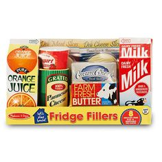 "Melissa & Doug Fridge Groceries Play Food Cartons (8 pcs) - Toy Kitchen Accessories -  Melissa & Doug - Toys""R""Us"