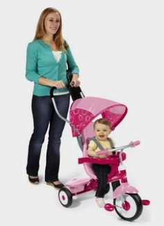 AmazonSmile: Radio Flyer 4-in-1 Trike, Pink: http://fave.co/2ccRbj5