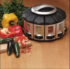 http://www.pinterhome.com/category/Spice-Rack/ Spice Rack Carousel with Auto-Measure