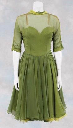 Celeste Holm green chiffon dress from High Society