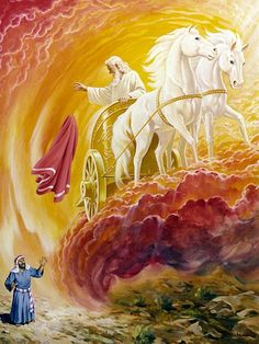 Elijah and chariot of fire Elijah crossing the Jordan is symbolic of the Rapture of The Bride, once she is translated, then God's Spirit returns back to The Elisha Type 144,000 Jews. Spiritually speaking once your spirit is translated into Christ Spirit then comes the revealing of the redemption of your body which we call The Change of The Body.