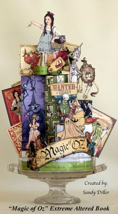 "My ""Crafty"" Life on the Internet: Magic of Oz Extreme Altered Book"