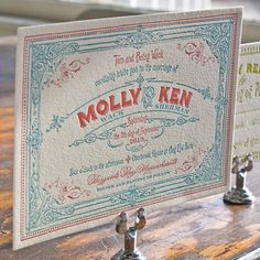 Molly | Lucky Luxe Couture Correspondence | Letterpress Wedding Stationery