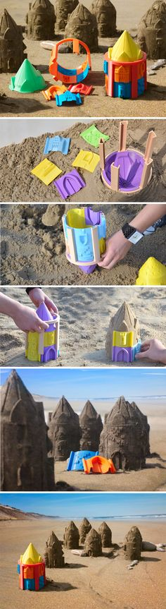 3D Printed Customizable Sandcastle Molds                                                                                                                                                      More