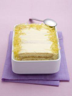 Tiramisu limoncello. Boil, soak, assemble, refrigerate.... Enjoy!!