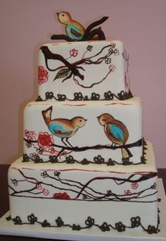 Perfect for my mom and her obsession with birds!:) Future Bday cake for my mommy... I think yes!