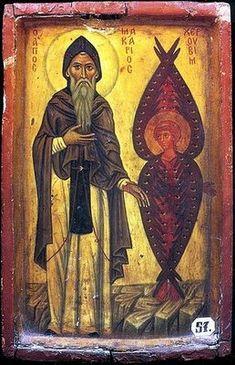 St Macarius the Great with Cherub - Desert Fathers - Wikipedia