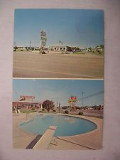 VINTAGE PHOTO POSTCARD STONES RIVR MOTEL & RESTAURANT MURFREESBORO TENN. 1965