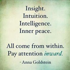 Look inward.