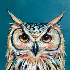 Love this owl. melissa townsend art: Welcome to the portfolio of Melissa Townsend! Painting Inspiration, Art Inspo, Owl Artwork, Animal Paintings, Acrylic Painting Animals, Bird Paintings, Bird Art, Painting & Drawing, Diy Painting