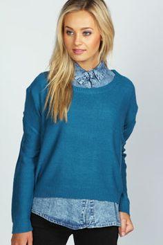 af5109b6e5bc Jennie Fine Gauge Jumper #boohooboutique Gauges, Boohoo, Knitwear, Jumper,  Suspenders,