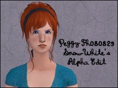 Peggy Fh080829 - SnowWhite's Alpha Edit Texture/colours, notes and credits are here. Headband texture by Aquilegia. Child to elder. Binned, familied, elder grey linked to black and compressorized. Mesh by Peggy included. Bodyshop Preview |...
