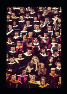 Rice University Commencement group of graduates, 1974