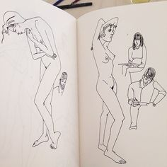 figure drawing session by Julia Rothman