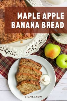 A fusion of fall's favorite flavors… in a quick bread. Maple Apple Banana Bread is an autumn treat filled with the warming and subtle spices of maple, cinnamon, vanilla, and cloves. And it's incredibly delicious. Sweets Recipes, Fall Recipes, New Recipes, Favorite Recipes, Breakfast Bake, Breakfast Recipes, Apple Banana Bread, Afternoon Tea Recipes, Dessert Blog