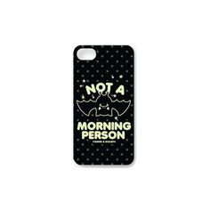 David and Goliath Not A Morning Person iPhone Cover featuring polyvore, fashion, accessories, tech accessories, phone cases, phone, david & goliath, iphone sleeve case and iphone cover case