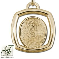 14K Yellow Gold Square - 17mm Fingerprint - (Does not include chain) $1249.99 Fingerprint Jewelry, White Gold, Sterling Silver, Chain, Prints, Yellow, Printmaking, Chain Drive, Gold