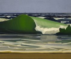 Small Hypnotic Wave - Christopher Benson American , b.1960- Oil on linen, 11 x 14 in,
