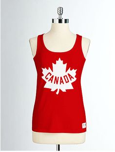 OLYMPIC COLLECTION Women's Cotton Maple Leaf Tank Top