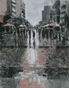 "Saatchi Art Artist Jane Grierson; Drawing, ""Break in the clouds"" #art"