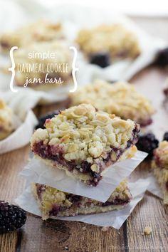 Simple Oatmeal Cookie Jam Bars