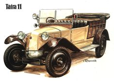 Vintage Stuff and Antique Designs Retro Cars, Vintage Cars, Antique Cars, Carros Vintage, Motos Vintage, Automobile, Car Tattoos, Veteran Car, Power Cars