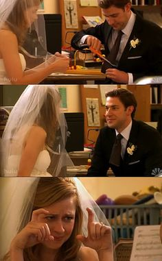 Jim & Pam before wedding. Love this moment! The Office, Office Fan, Movies Showing, Movies And Tv Shows, Best Tv, The Best, Jim Pam, Office Memes, Office Quotes
