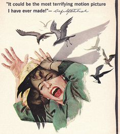 "Alfred Hitchcock ""The Birds"" Movie Ad Poster 1963 by hmdavid, via Flickr"