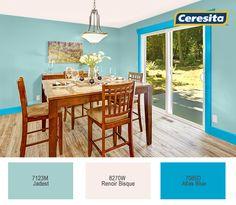 #CeresitaCL #PinturasCeresita #color #comedor #pintura #decoración #tendencia #espacios *Códigos de color sólo para uso referencial. Los colores podrían lucir diferentes, según calibrado de su monitor.