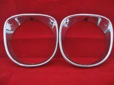 A pair of headlight bezels for the right side of a 1970 Chevrolet Chevelle. #Chevrolet #chevelle #classic #Cars #parts #headlight #bezels #oem #bonanza