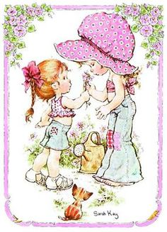 sarah kay - I completed the sticker book and I've still got it Sarah Key, Holly Hobbie, Creative Pictures, Cute Pictures, Mary May, Australian Artists, Illustrations, Cute Illustration, Vintage Cards