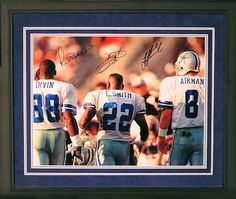 Michael Irvin, Emmitt Smith, and Troy Aikman!  Thanks for the memories and the Super Bowls!