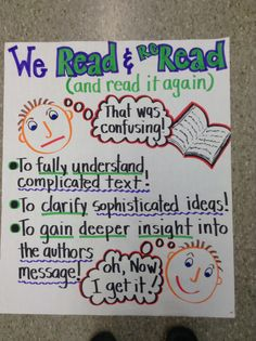 Critical reading anchor chart