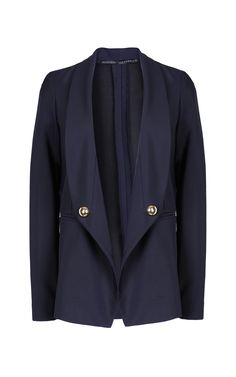 Upside Down Shawl Collar Jacket by Anthony Vaccarello for Preorder on Moda Operandi