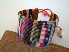 Macrame colorful bracelet. Braceletcuff. by asmina on Etsy, €19.00