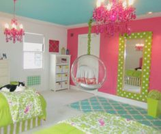 teenage room decor, pretty in pink