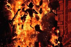 Burning of Falla street art display in Valencia - Piccell/Getty Images