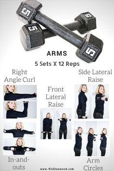 5lb Arm workout exercise 5 sets x 12 reps