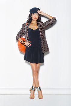 Nausheen Shah in Vintage Chanel Backpack from WGACA NY!  http://www.refinery29.com/armani-exchange#slide5
