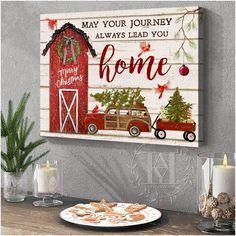 Christmas Wall Art Canvas Christmas Wall Art Canvas, Canvas Wall Art, Canvas Prints, Home Wall Art, Home Art, Canvas Material, Cotton Canvas, Merry, Holiday Decor