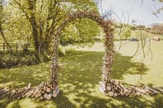 wood branch arch