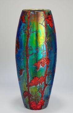 secessionist pottery | Vase 1899 Manufacturer Zsolnay Factory, Pécs, Budapest.
