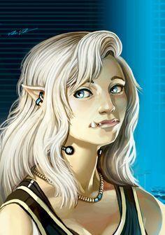 Image result for shadowrun elf female blonde