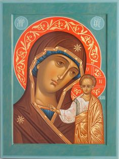 Mary And Jesus, Archangel Michael, Art Icon, Orthodox Icons, Mother Mary, Virgin Mary, Color Inspiration, Jewelry Art, Christianity