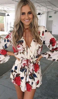 Locked In My Embrace Romper - White