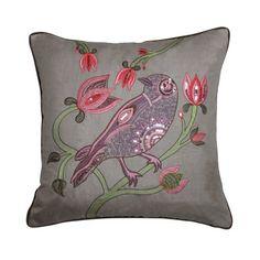 Bird Cushion in Grey