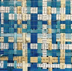 paper weaving art by Textile Warrior