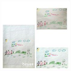Família a passear  Family walk  On se promène  #bewee #embroidery #kidsdrawings #kidsartwork #kidscreativity #lingemaison