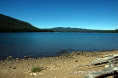 Cultus Lake in Oregon is one of 150 lakes within an 87 mile radius with a camping season of May - September.