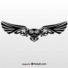 Ilustração do vetor de coruja tribal Vetor grátis